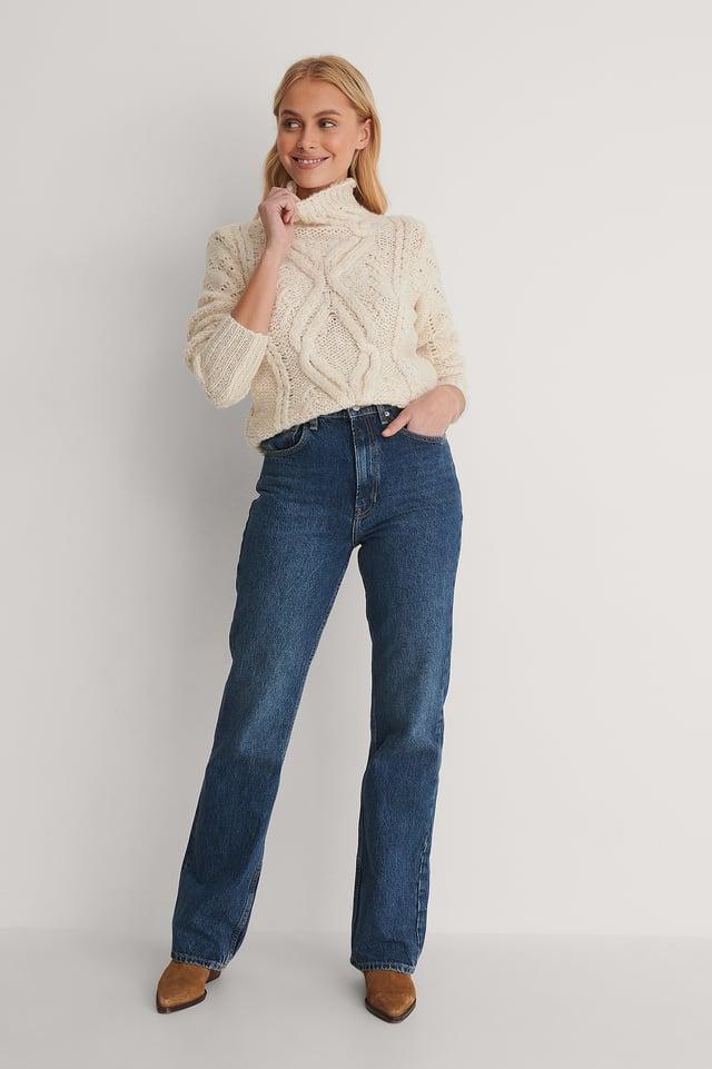 Maya Knit Sweater Outfit.