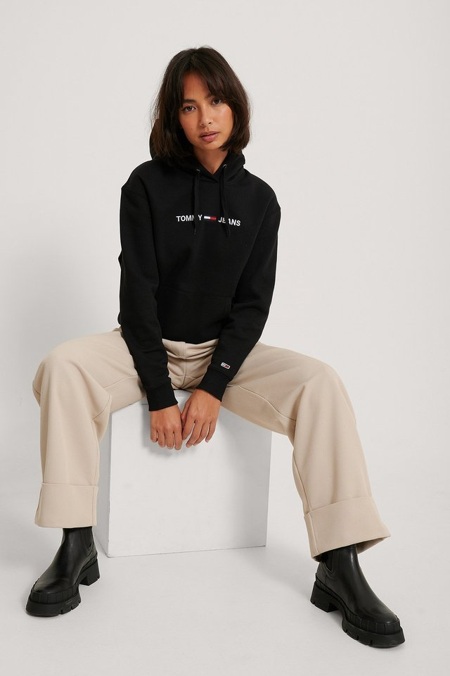Linear Logo Hoodie Outfit.