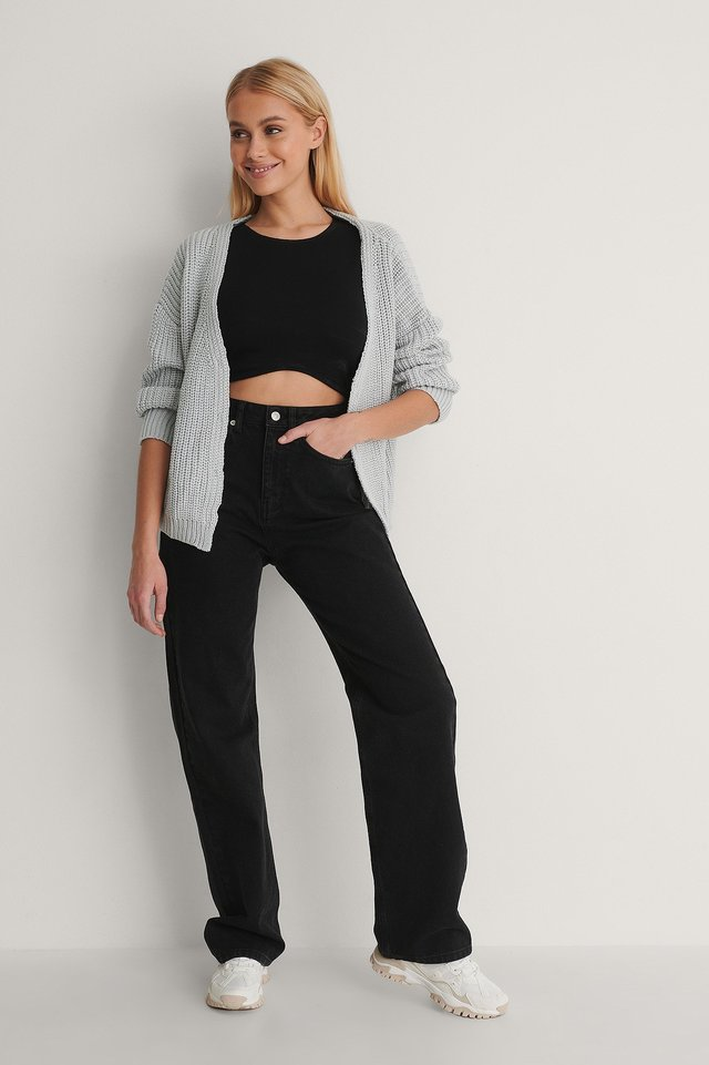 Milla Knit Cardigan Outfit.
