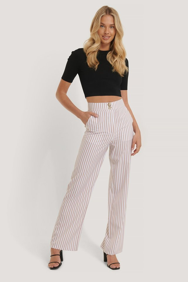 Wide Flowy Pant Outfit.