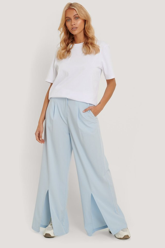 Loose Slit Pants Outfit.