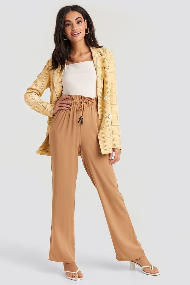 Paperbag Wide Leg Trousers Outfit.