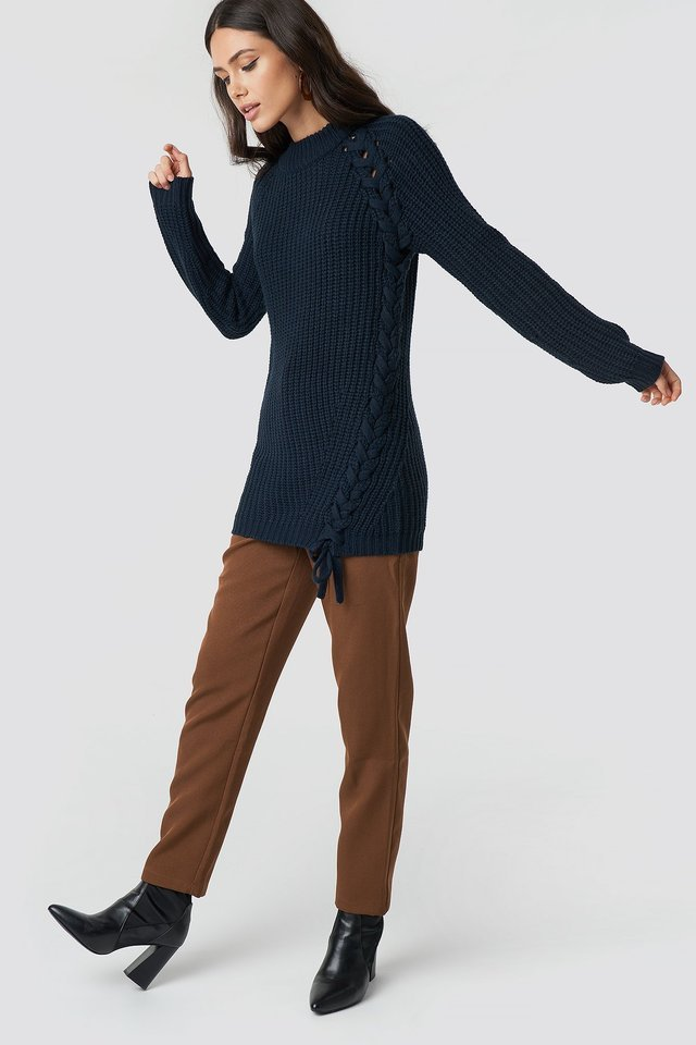 Samira Side Braid Knit Outfit.
