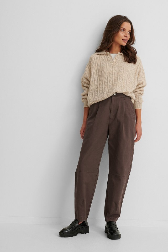 Soft Cotton Coccoon Pants Outfit.