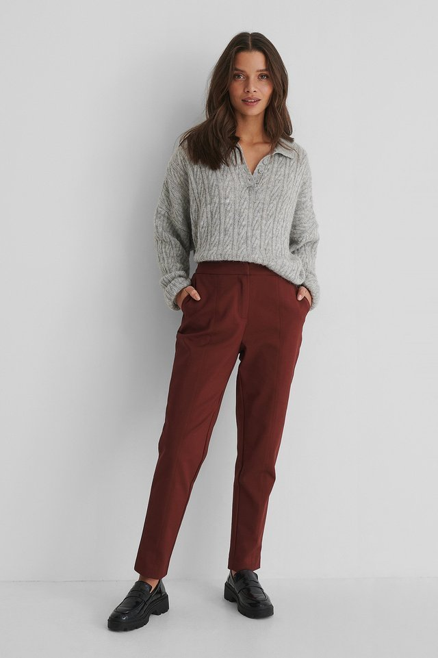 Cotton-Blend Slacks Outfit.