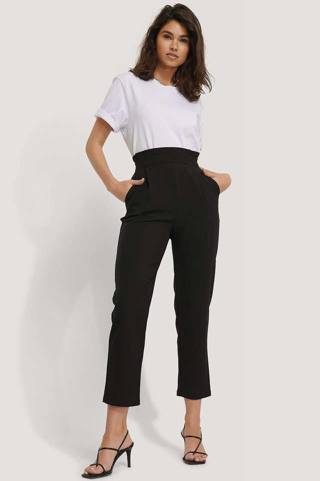 High Waist Straight Pants Outfit.
