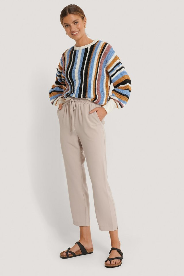 Relaxed Drawstring Pants Outfit.