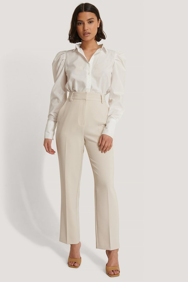Cropped Tailored Suit Pants Outfit.