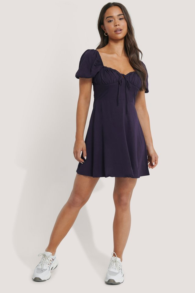 Bust Detail Mini Dress Outfit.