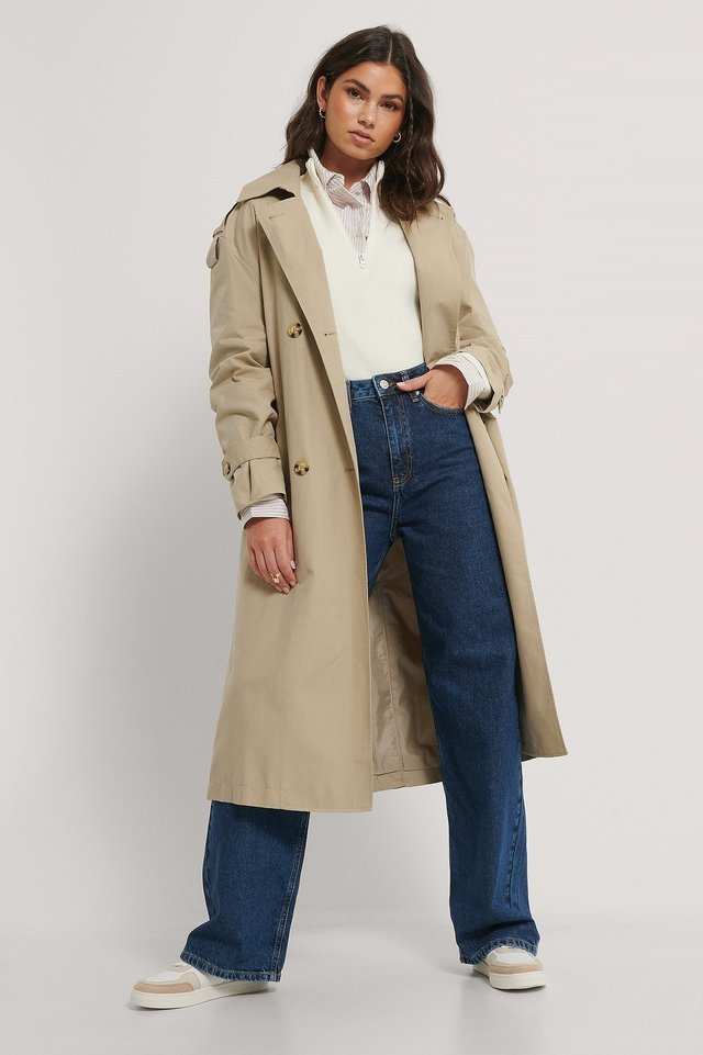 Feb Trench Coat Grey Outfit.