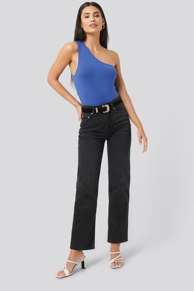 Blue Asymmetric Jersey Body