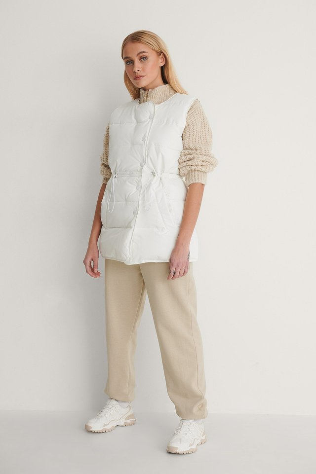 Drawstring Padded Vest Outfit!