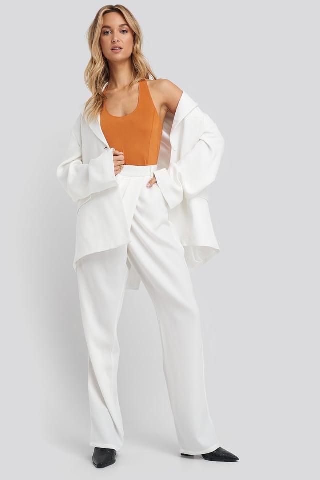 Halterneck Bodysuit Outfit.