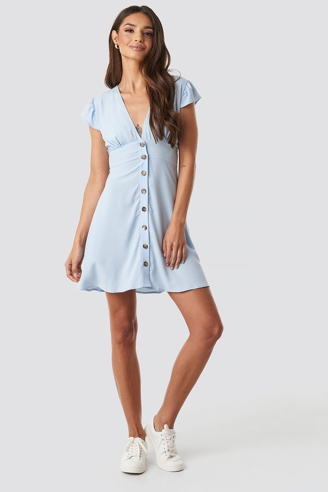 Button Up Mini Dress Outfit.