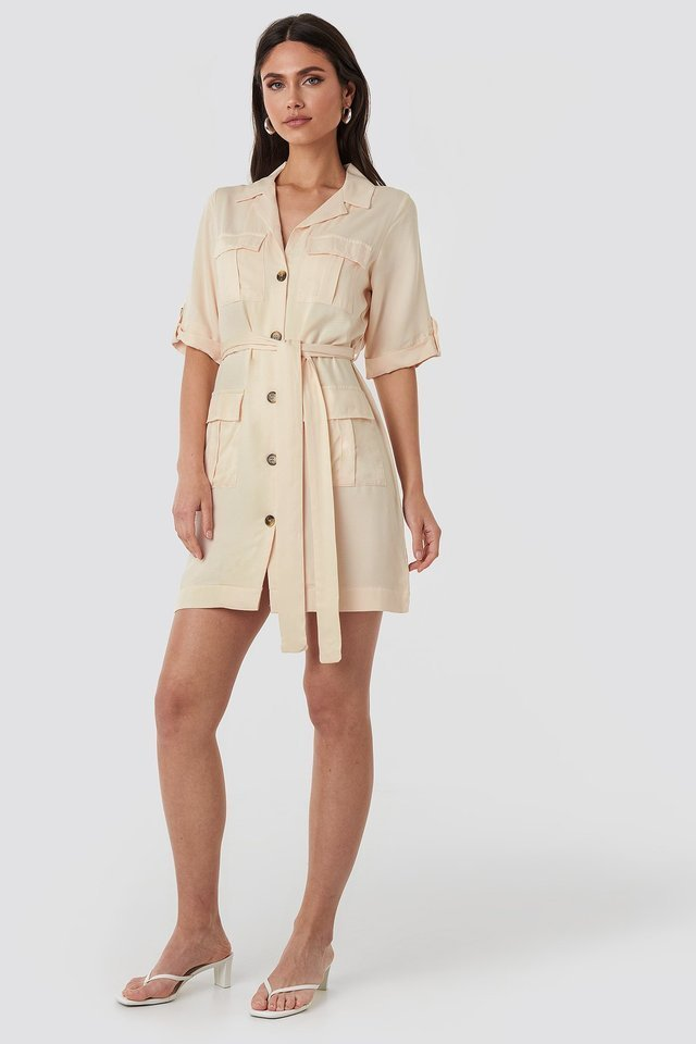 Cargo Detail Mini Dress Outfit.