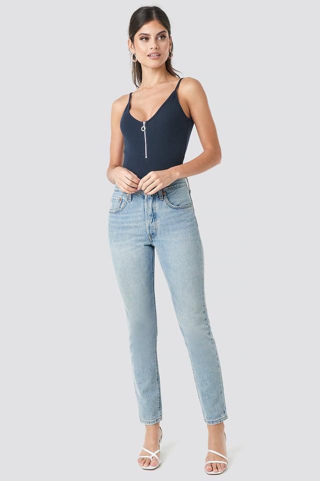Zipper Bodysuit Outfit.