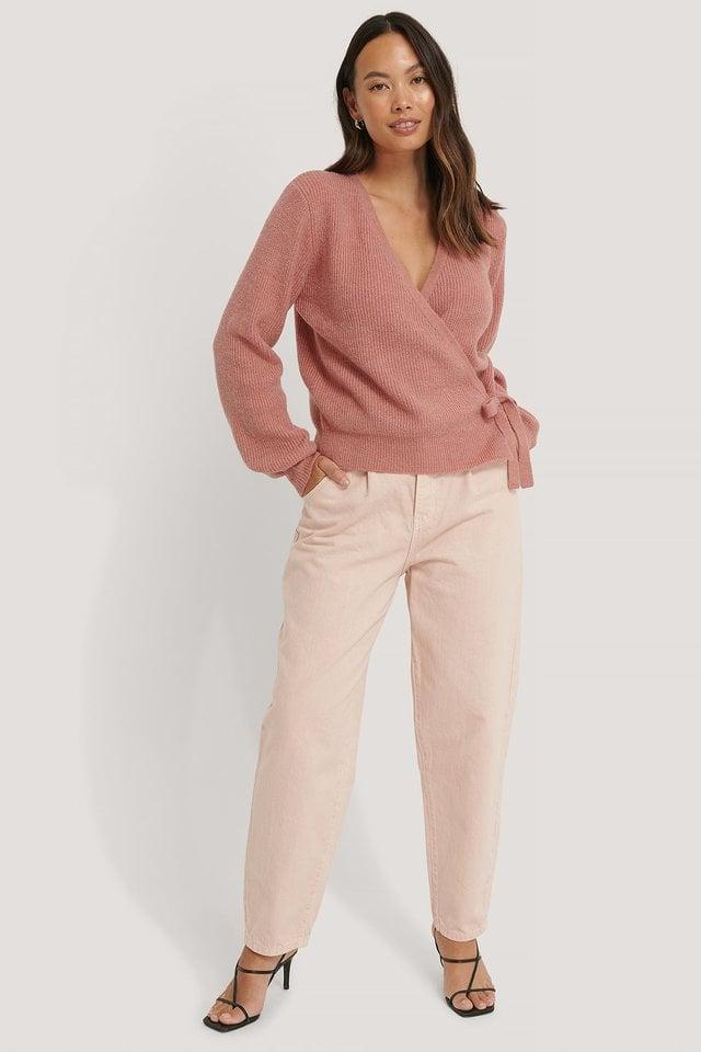 Pink De Punto Con Cierre Lateral