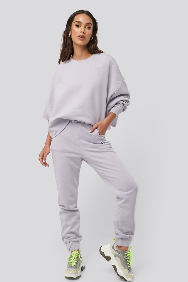 Buckle Elasticated Waist Joggers Outfit.