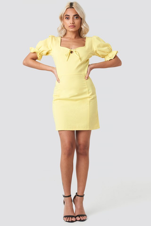 Sweetheart Mini Dress Yellow.