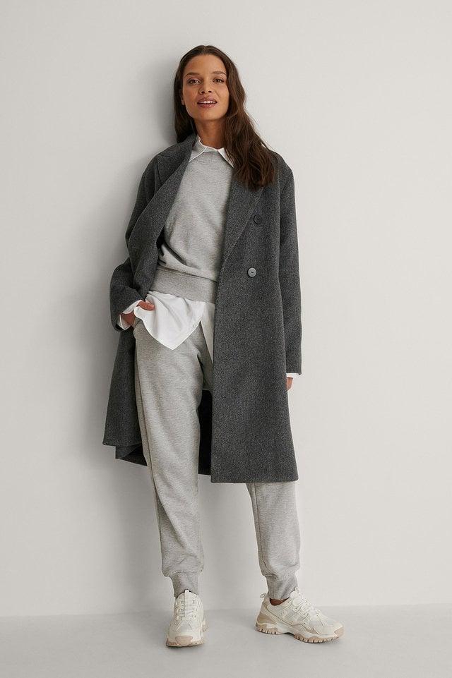 Bartoli Coat Grey Outfit.