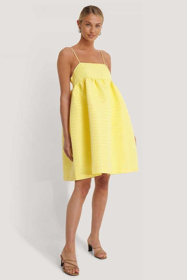 Structured Strap Dress Yellow.