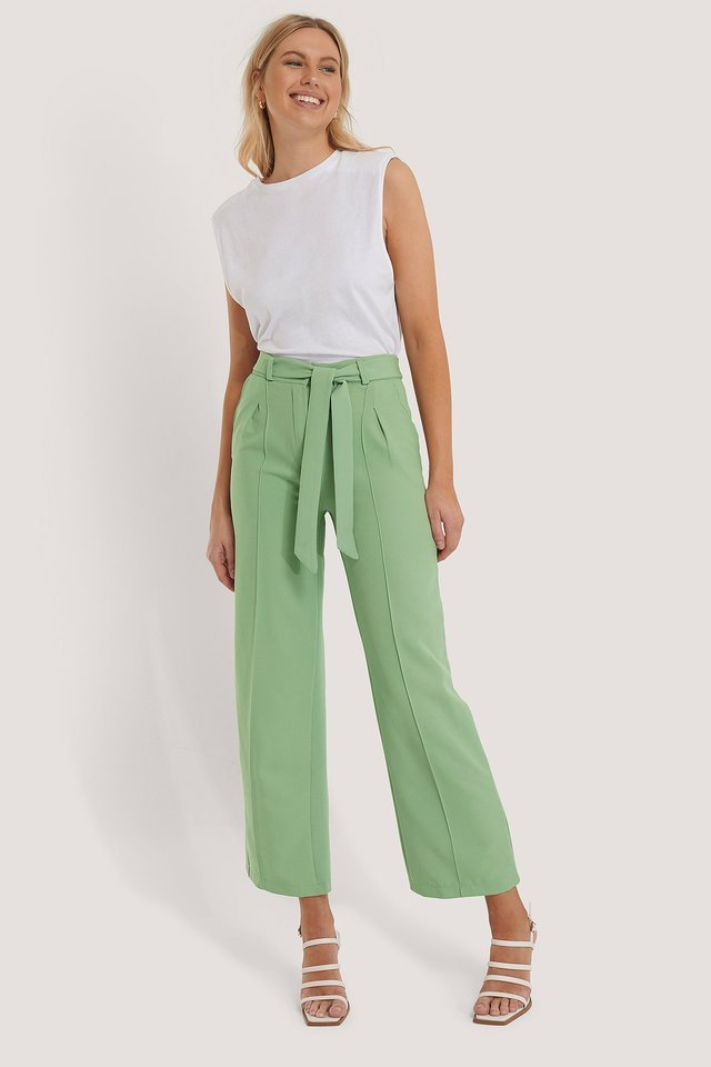 Belted Wide Leg Trousers Outfit.