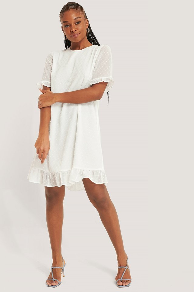 Dobby Loose Dress Outfit.
