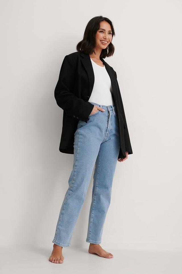 Straight High Waist Jeans