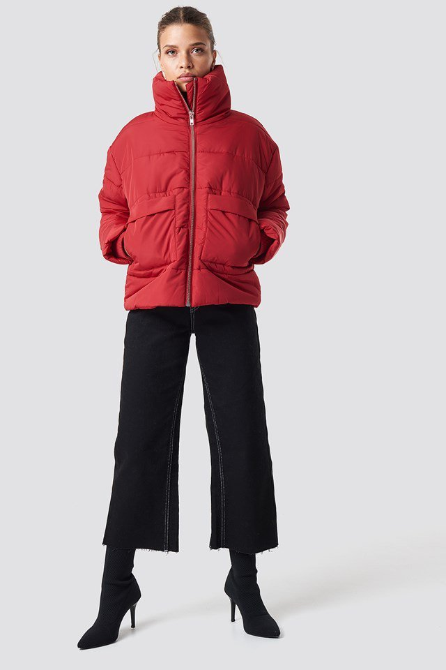 Sporty And Trendy Puffy Jacket Outfit