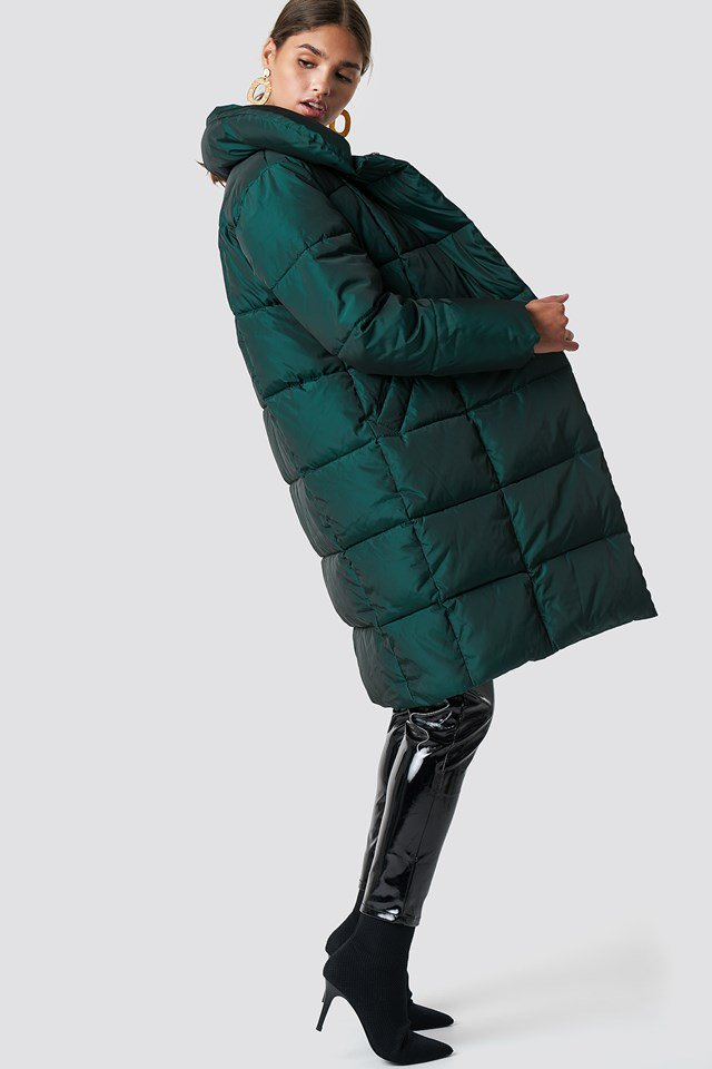 Dress Up Long Puffy Jacket Outfit