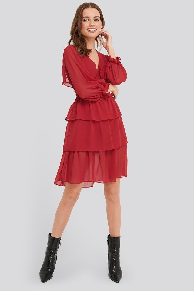 Flounce Dress Outfit.