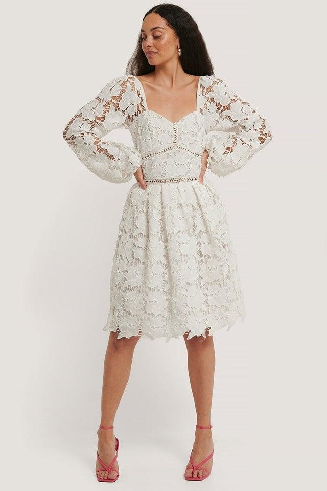 Flower Crochet Dress Outfit.