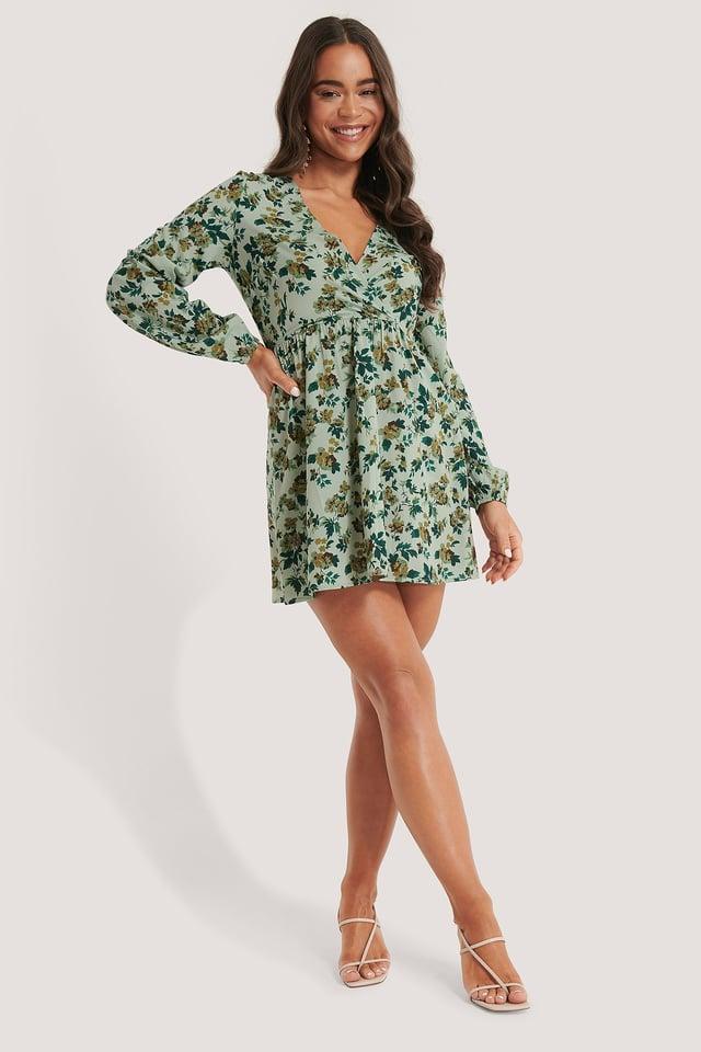 Overlap LS Mini Dress Outfit.