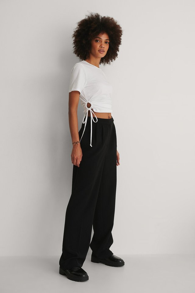 Cut Cropped Tshirt Outfit!