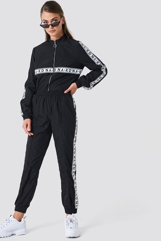Striped Logo Tracksuit Pants