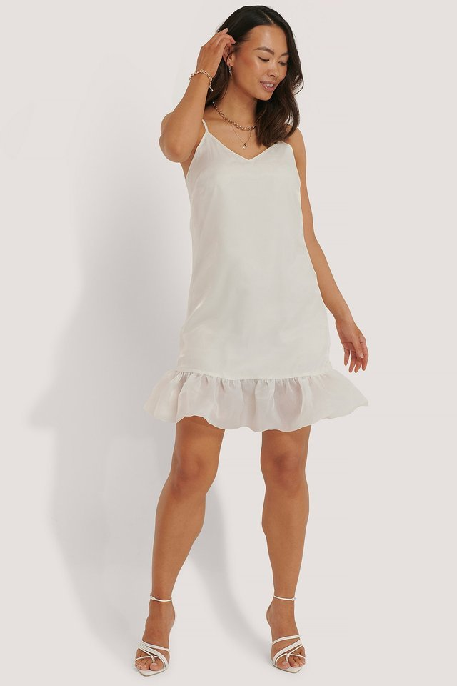 Frill Bottom Dress Outfit.