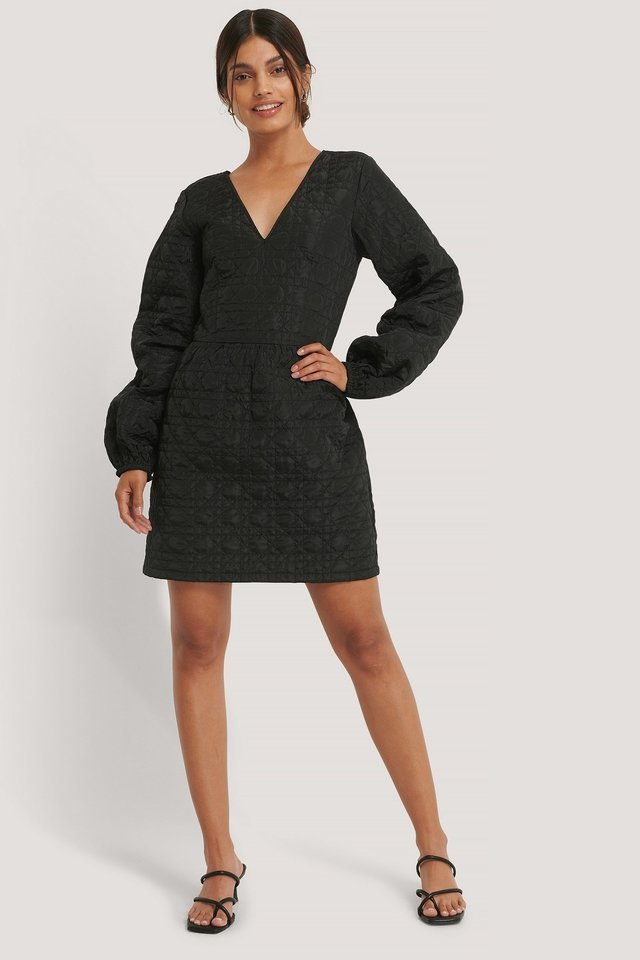 Quilted Dress Black.