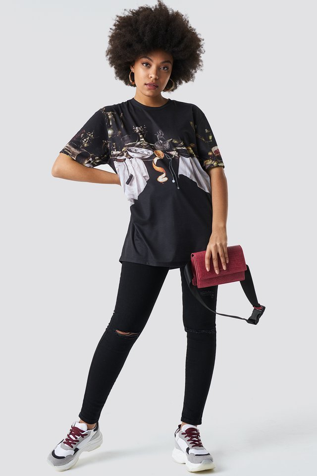Still Life Oversize Tee Outfit.
