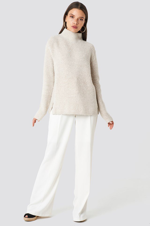Neutral Toned Knit Outfit