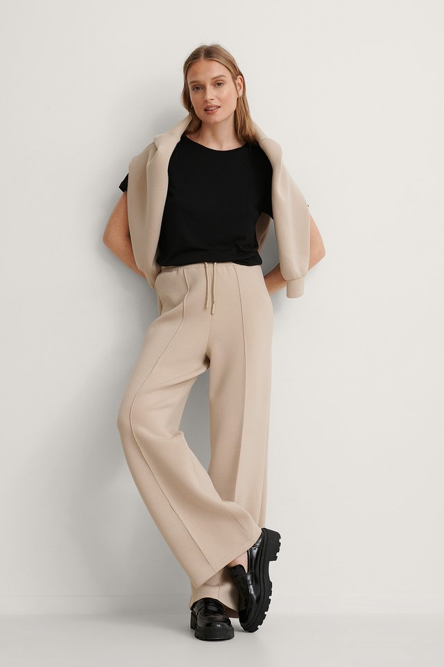 Viscose Basic Tee Outfit.