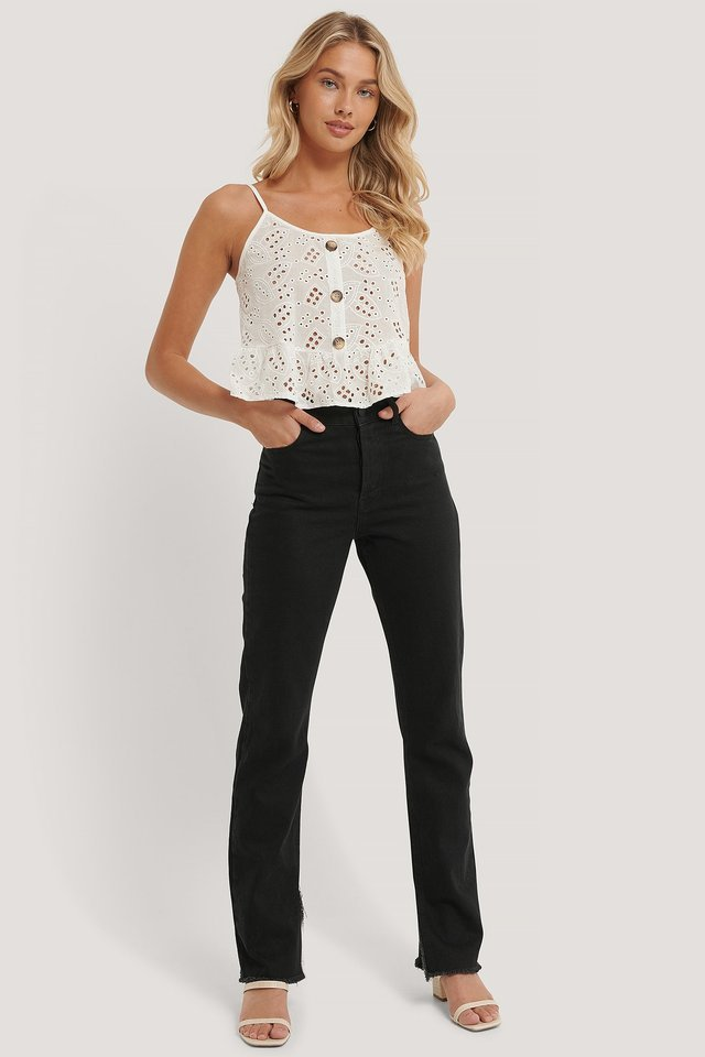 Lace Detailed Top Outfit.