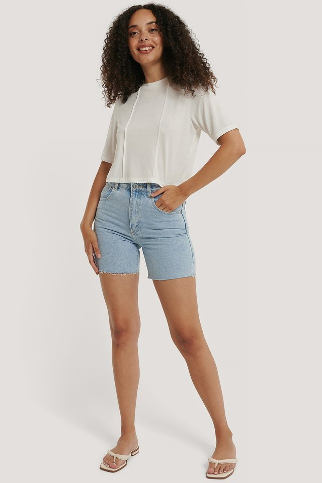 Modal Short Sleeve Top Outfit.