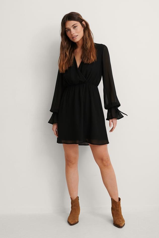 Strap Tie Mini Dress Outfit.