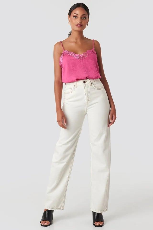Stine Lace Singlet Pink.