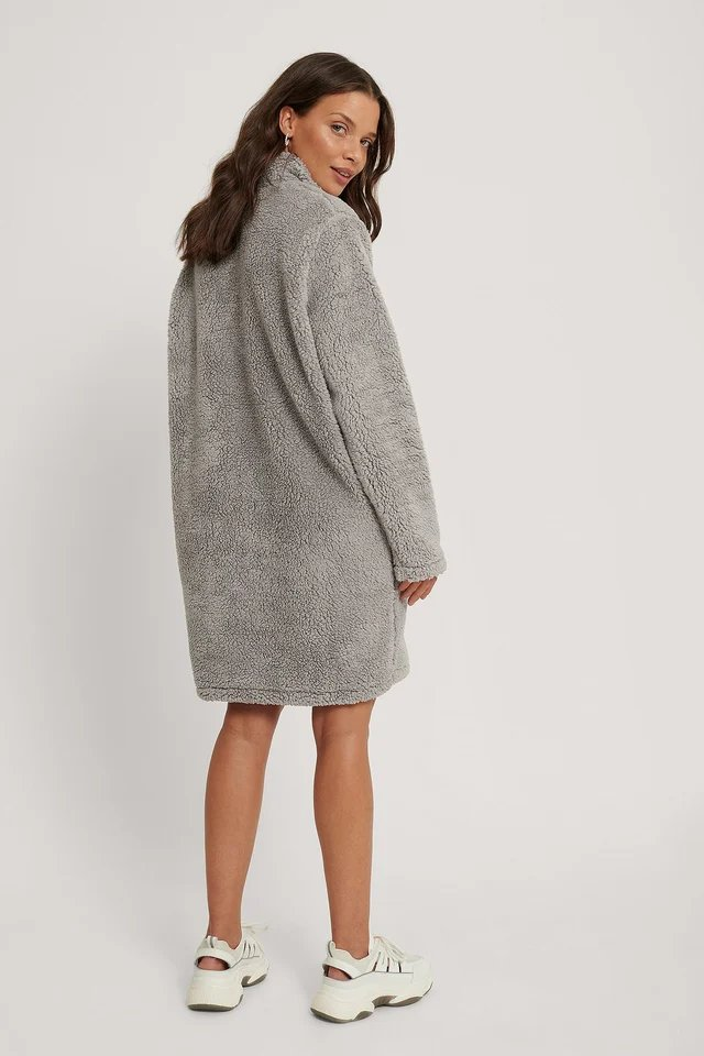 Fleece Dress Outfit.