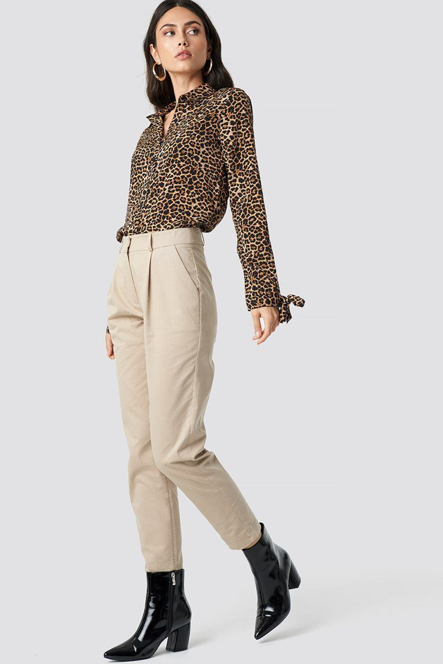 Leo Tie Shirt Pant Outfit