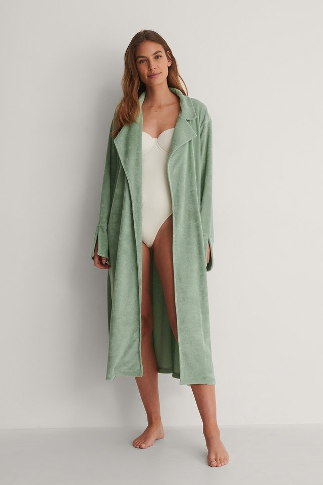 Terry Cloth Robe Outfit.