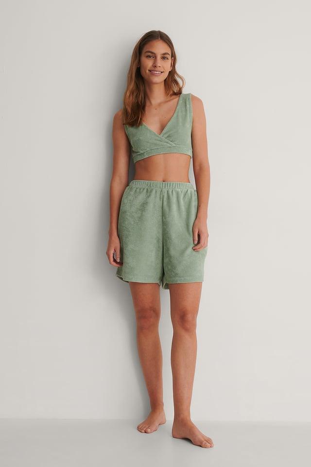 Green Terry Cloth Top