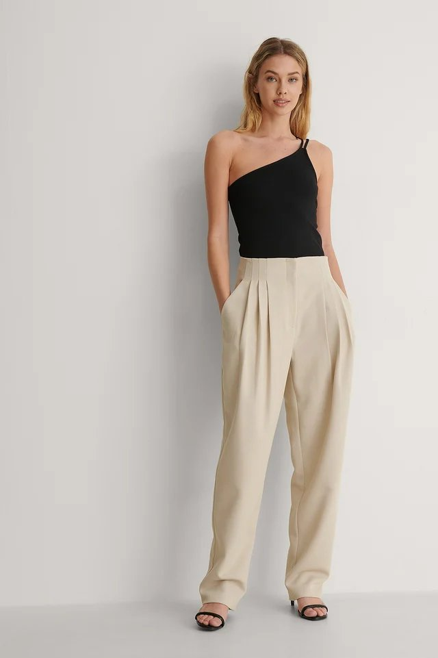 Double Strap One Shoulder Top Outfit.