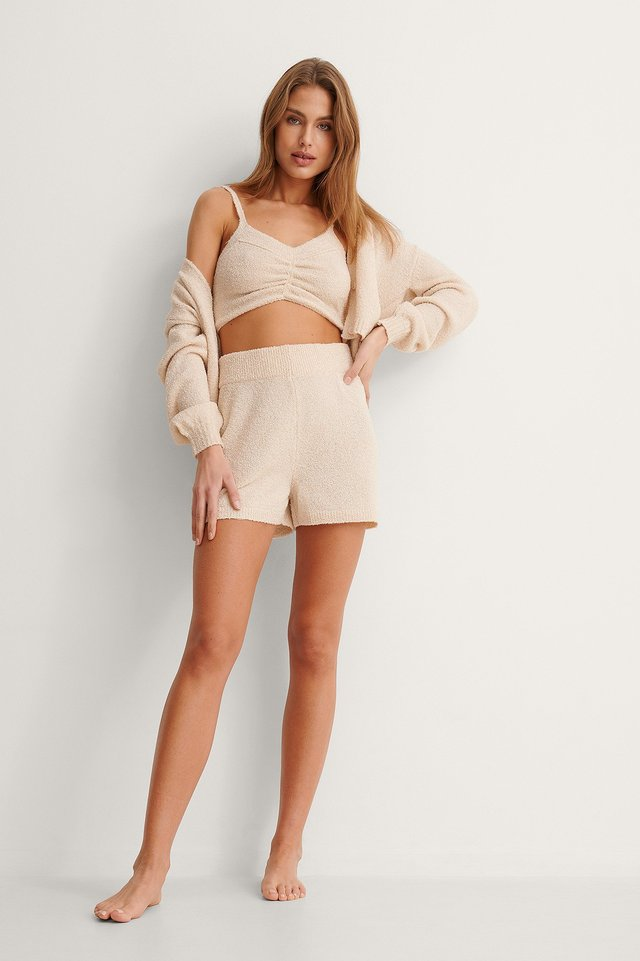 Knitted Ruched Detail Top Outfit.